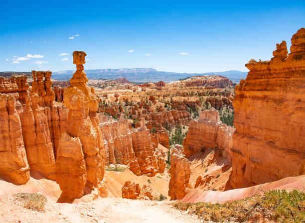 Beautiful mountain landscape. Famous Thor's Hammer hoodoo. stock photo