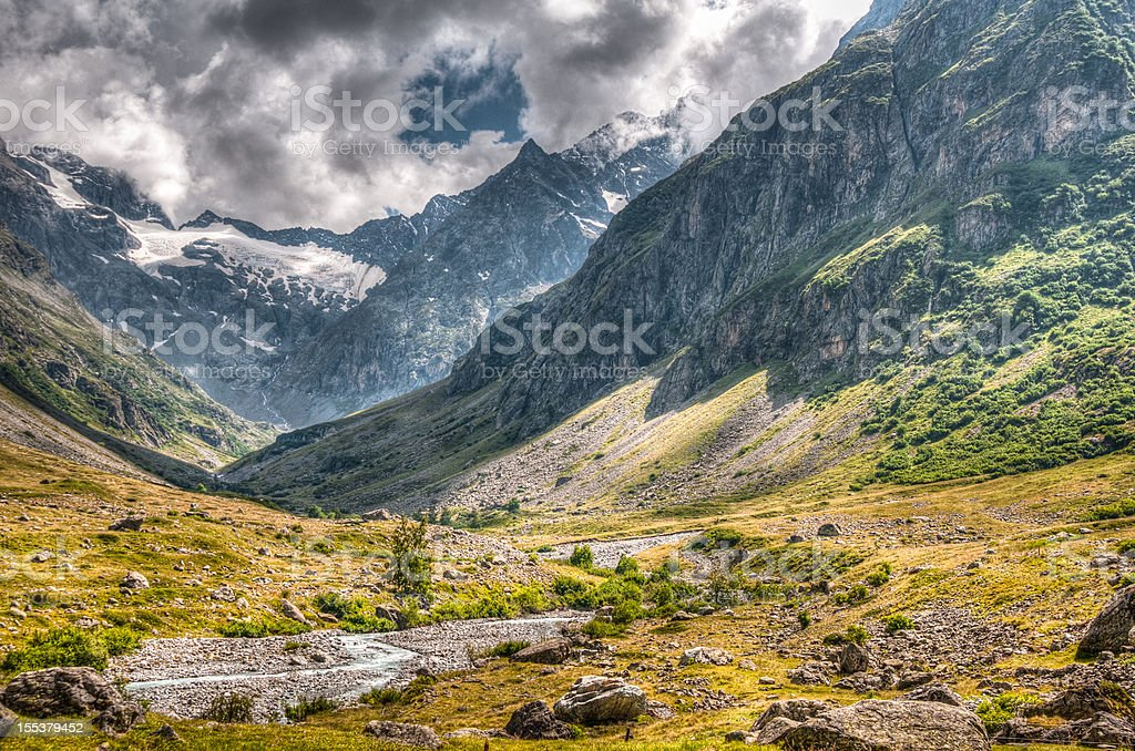 Beautiful Mountain Landscape HDR stock photo