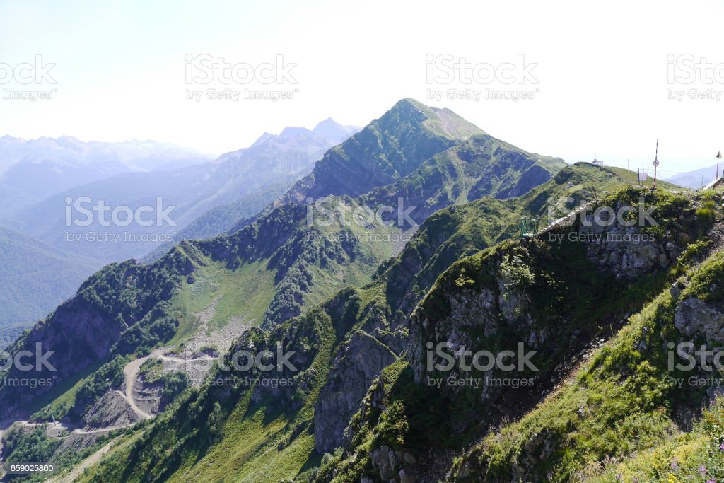 Beautiful Mountain landscape in Krasnaya Polyana. Rosa Khutor, Sochi, Russia royalty-free stock photo