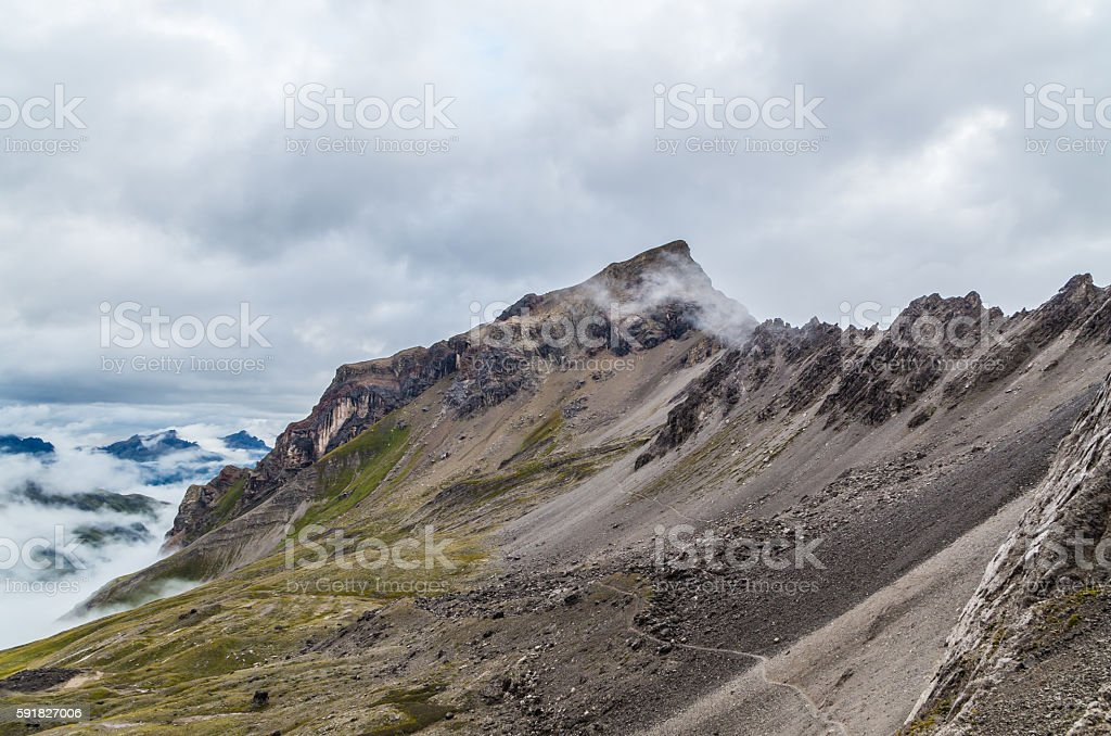 Beautiful mountain landscape in the Lechtal Alps, North Tyrol, Austria stock photo