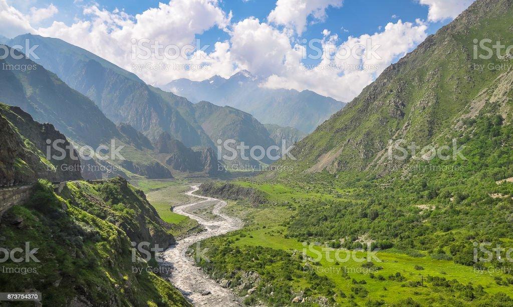 Beautiful mountain landscape in the north Georgia stock photo
