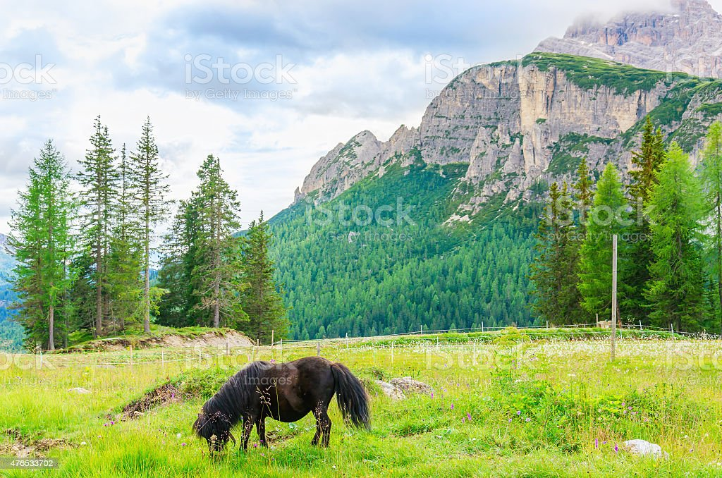 Beautiful mountain landscape of Dolomites, Italy stock photo