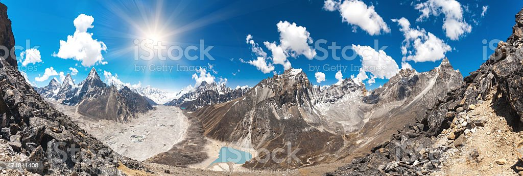 Beautiful mountain landscape stock photo