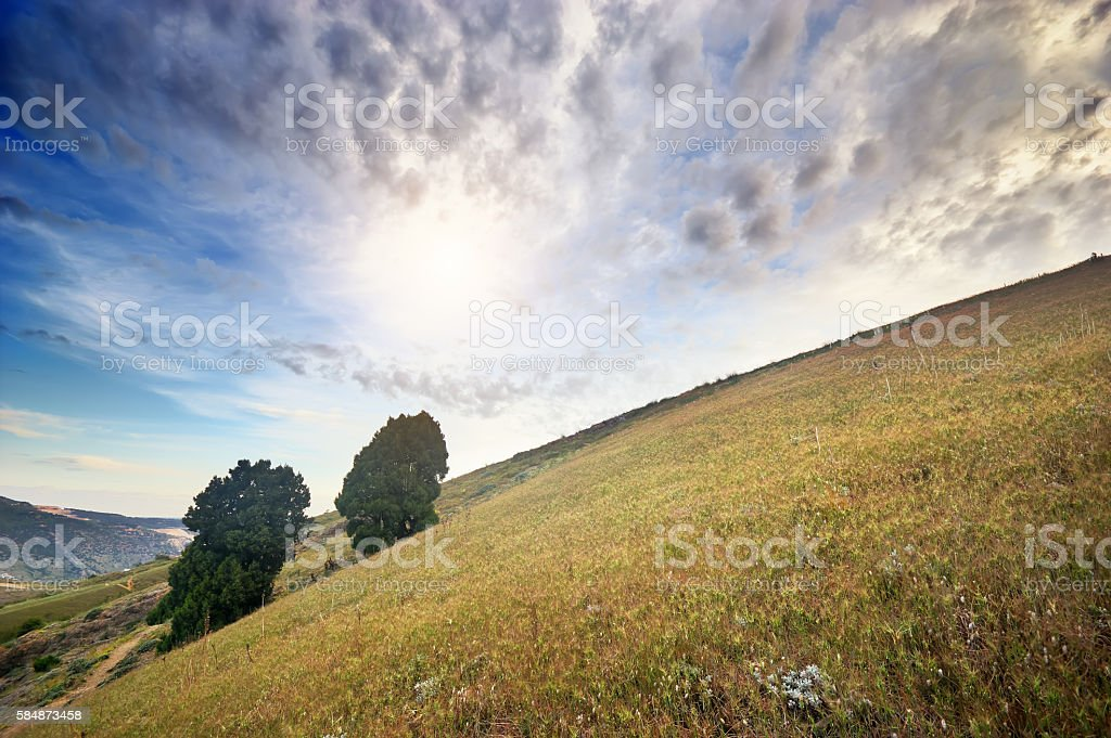 Beautiful mountain landscape. stock photo