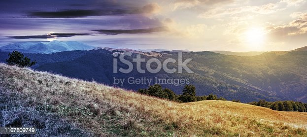 istock beautiful mountain landscape time change concept 1167809749