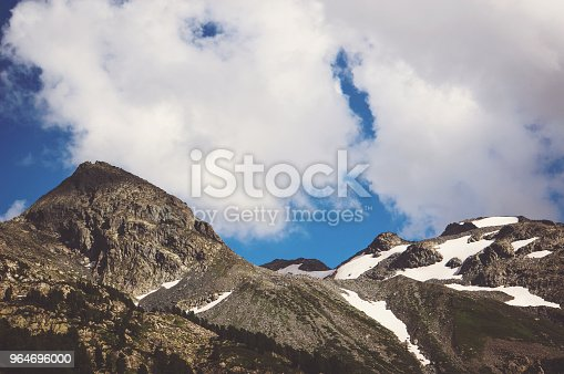 Beautiful Mountain Landscape With Trees And Mountain Peaks Stock Photo & More Pictures of Autumn