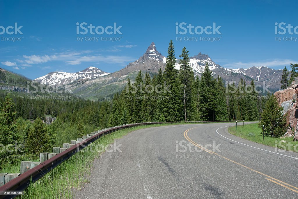 Beautiful mountain landscape, Wyoming, USA stock photo