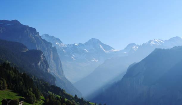 Beautiful Mountain Range stock photo