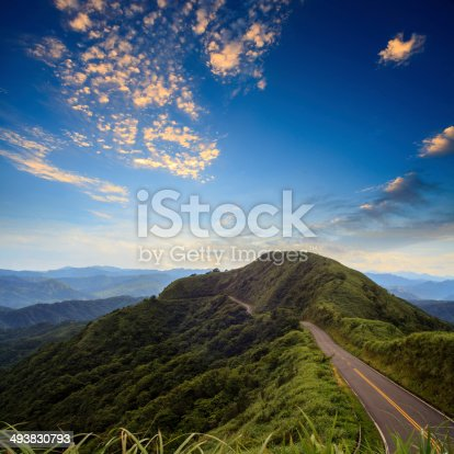 istock beautiful mountain road with sky 493830793