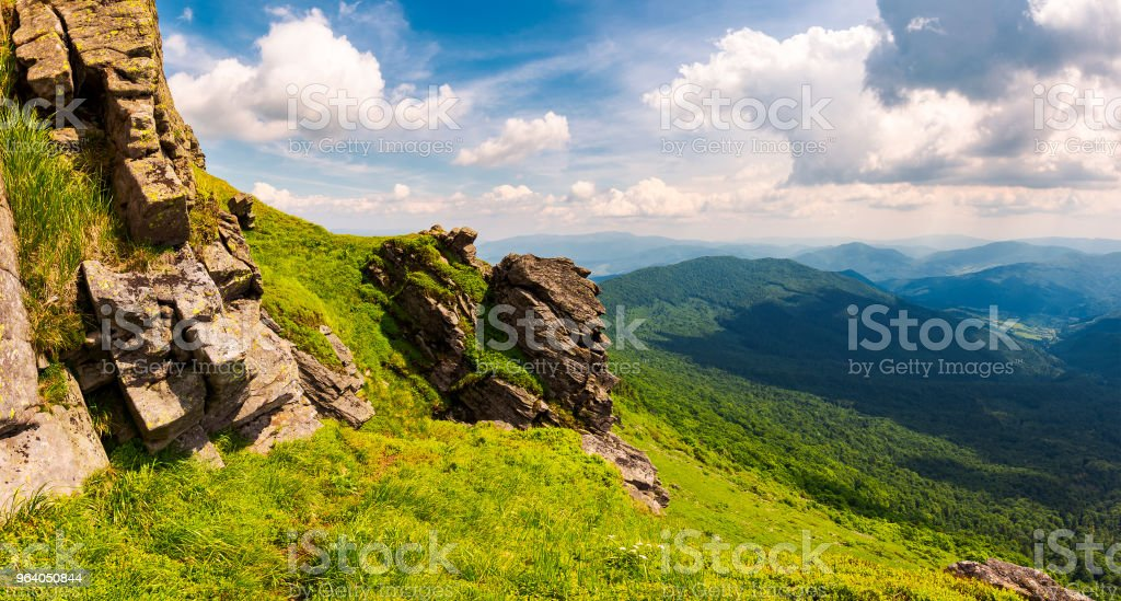 beautiful mountain scenery in summer - Royalty-free Awe Stock Photo