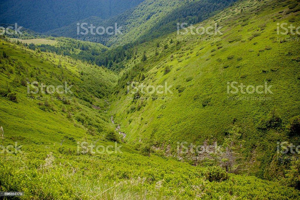 beautiful mountain valley royalty-free stock photo
