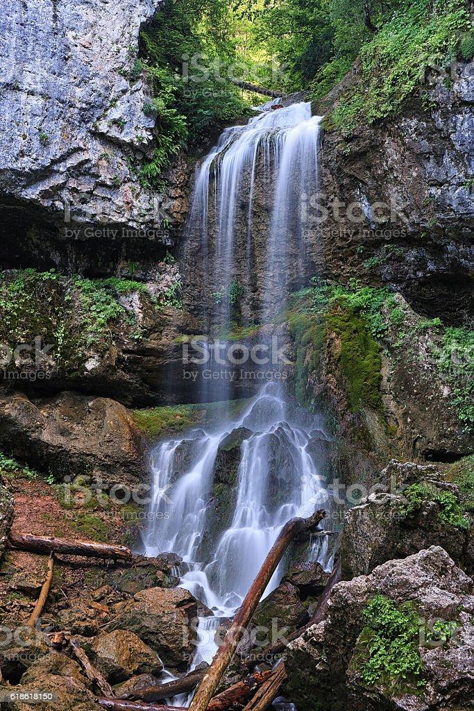 Beautiful Mountain Waterfall Vertical Scenery Landscape