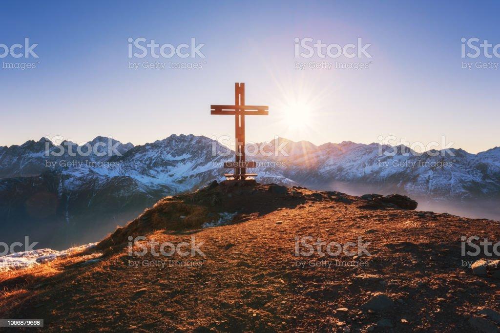 Schönen Winter Sonnenuntergang Berglandschaft mit Panoramablick, Alpen, Nationalpark Hohe Tauern, Österreich – Foto