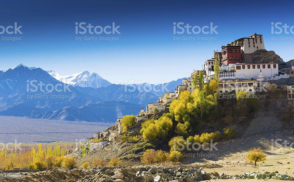A beautiful mountainous landscape in Northern India stock photo
