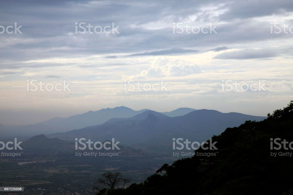 Beautiful mountains in cloudy weather. Vietnam stock photo