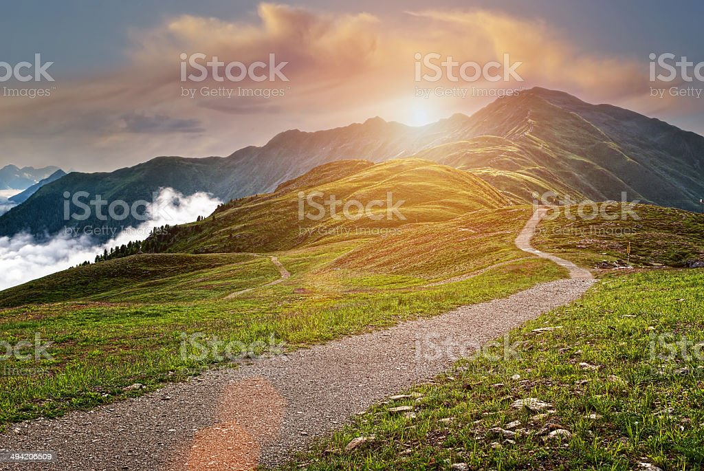 Beautiful mountains landscape stock photo