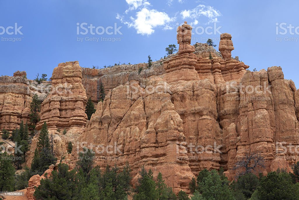 Beautiful Mountains of Bryce Canyon royalty-free stock photo
