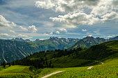 Mountain range with Circumhorizontal arc