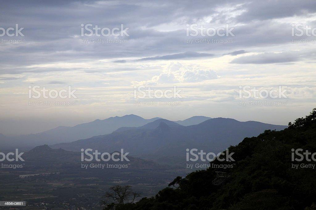Beautiful mountains stock photo