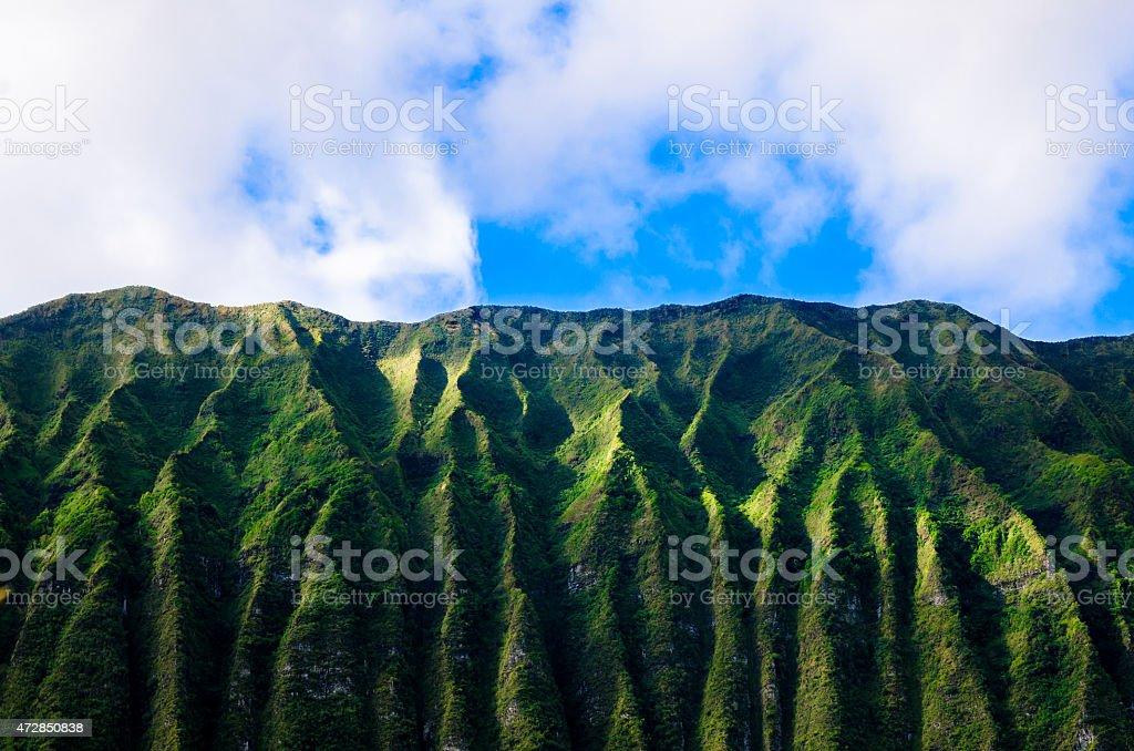 美しい山々から、Oafu ワイマナロ表示 ストックフォト
