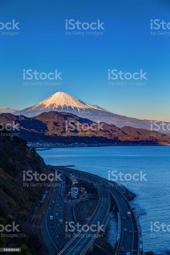 Beautiful Mt. Fuji from Shizaoka pref. stock photo
