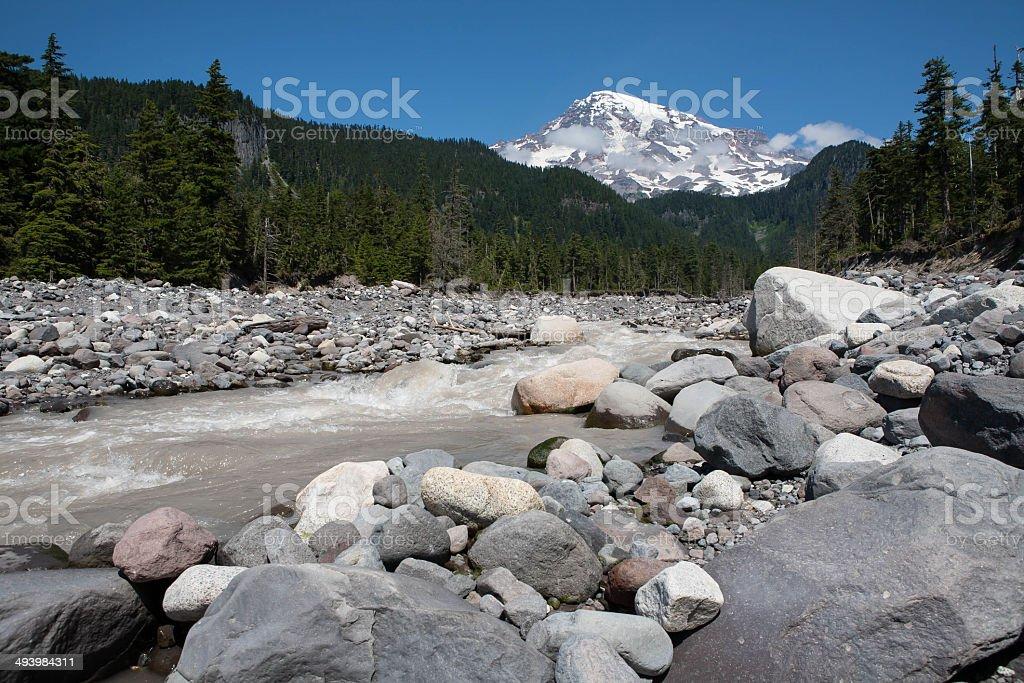 Beautiful Mt Rainier stock photo