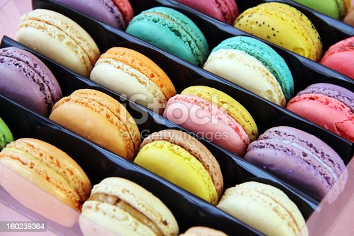 Macarons, delicious French pastries, are made of two egg white, almond, and sugar cookies sandwiching a cream, ganache, or fruit-based filling.