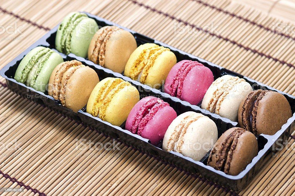 Beautiful Multicolored Macarons royalty-free stock photo