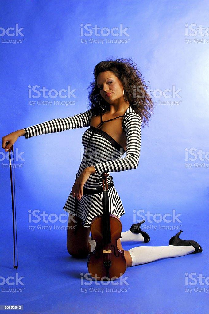 beautiful musician royalty-free stock photo