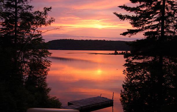 Beautiful Muskoka Sunset stock photo