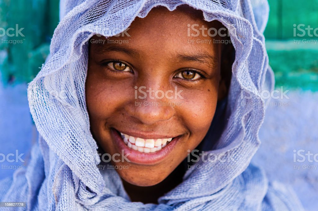 Beautiful Muslim girl in Southern Egypt royalty-free stock photo