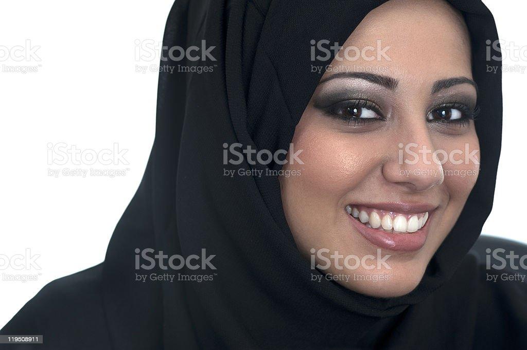 Beautiful, Muslim, Middle-Eastern Woman royalty-free stock photo