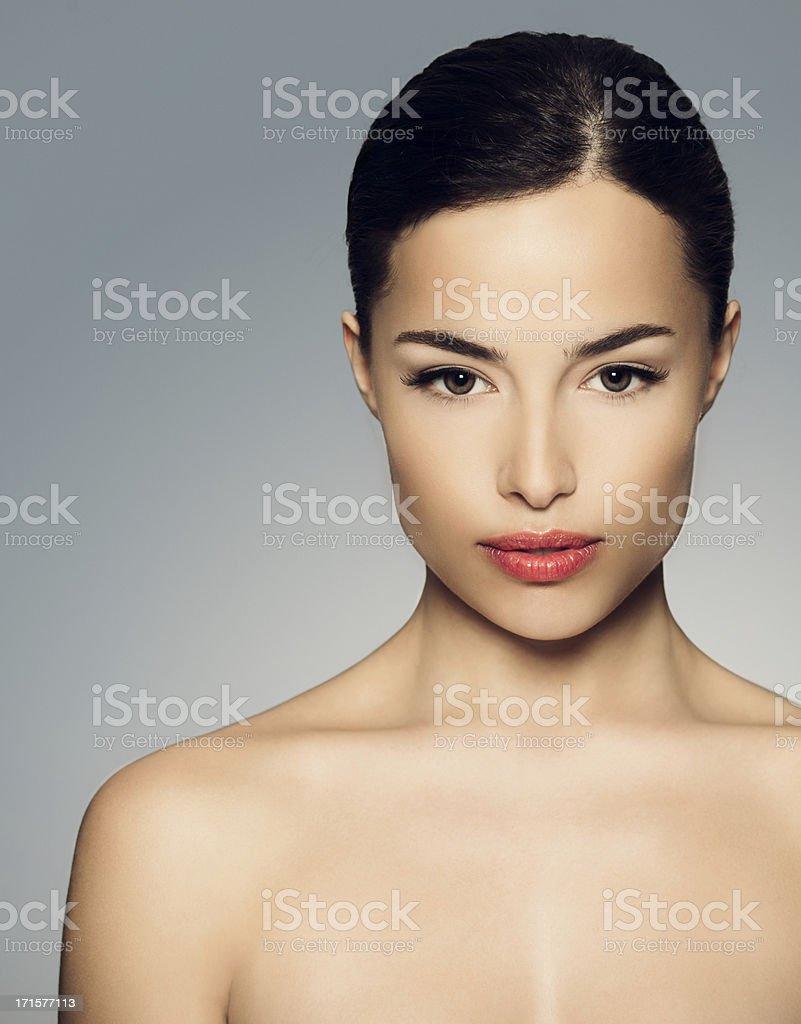Beautiful Naked Brunette royalty-free stock photo