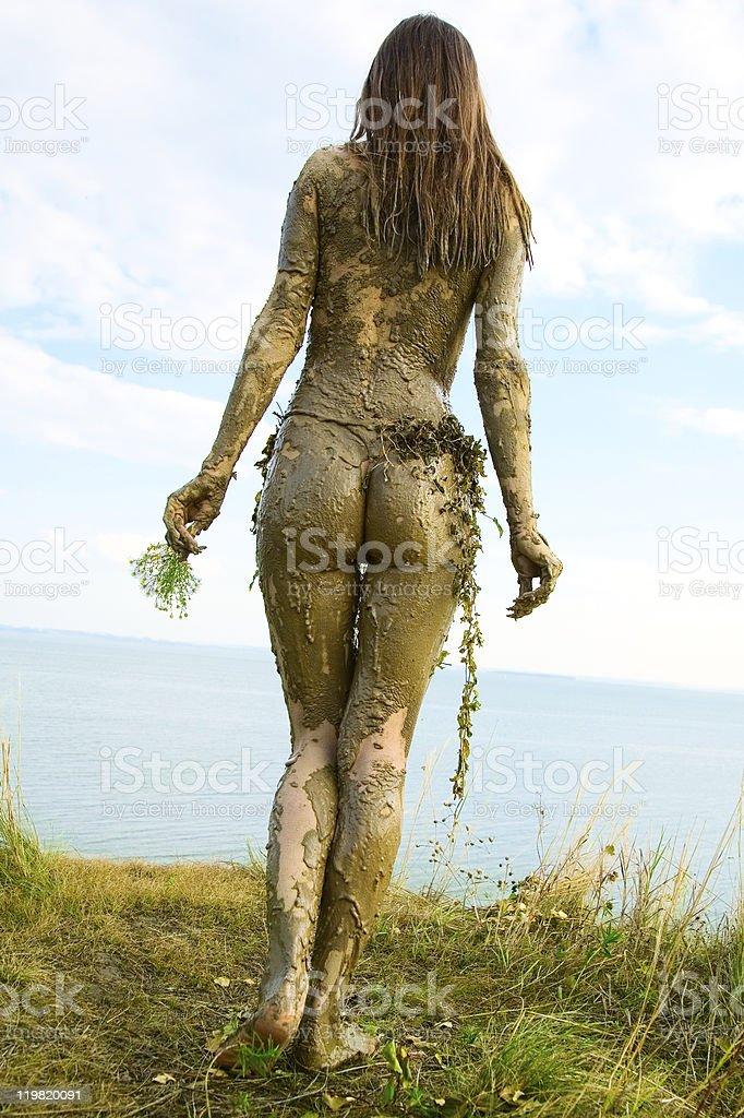 Beautiful naked girl royalty-free stock photo