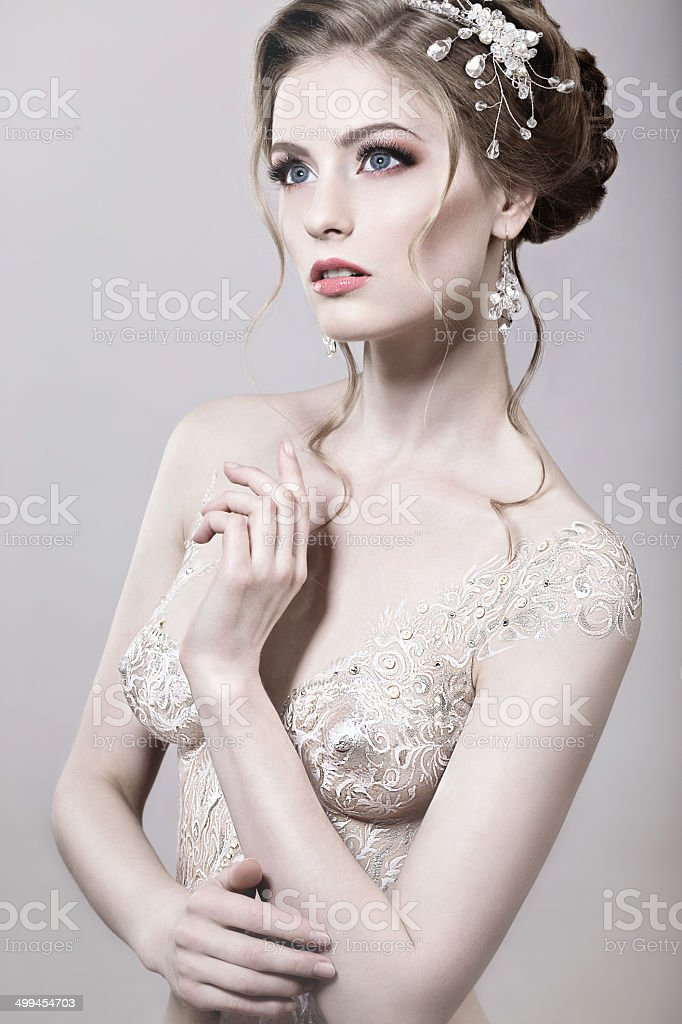 Beautiful Naked Girl With Bride Bodyart Stock Photo  More Pictures Of Adult  Istock-9668