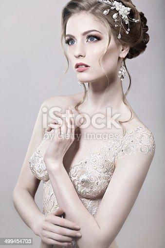 Beautiful Naked Girl With Bride Bodyart Stock Photo  More