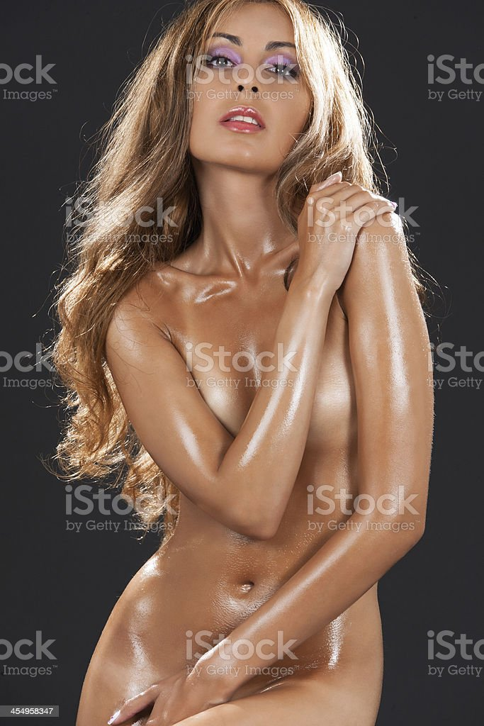 Naked women with oily skin