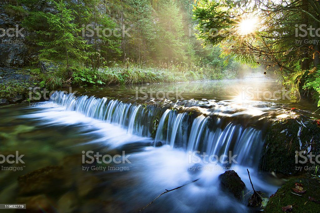 Beautiful national park in Slovak paradise, Slovakia stock photo