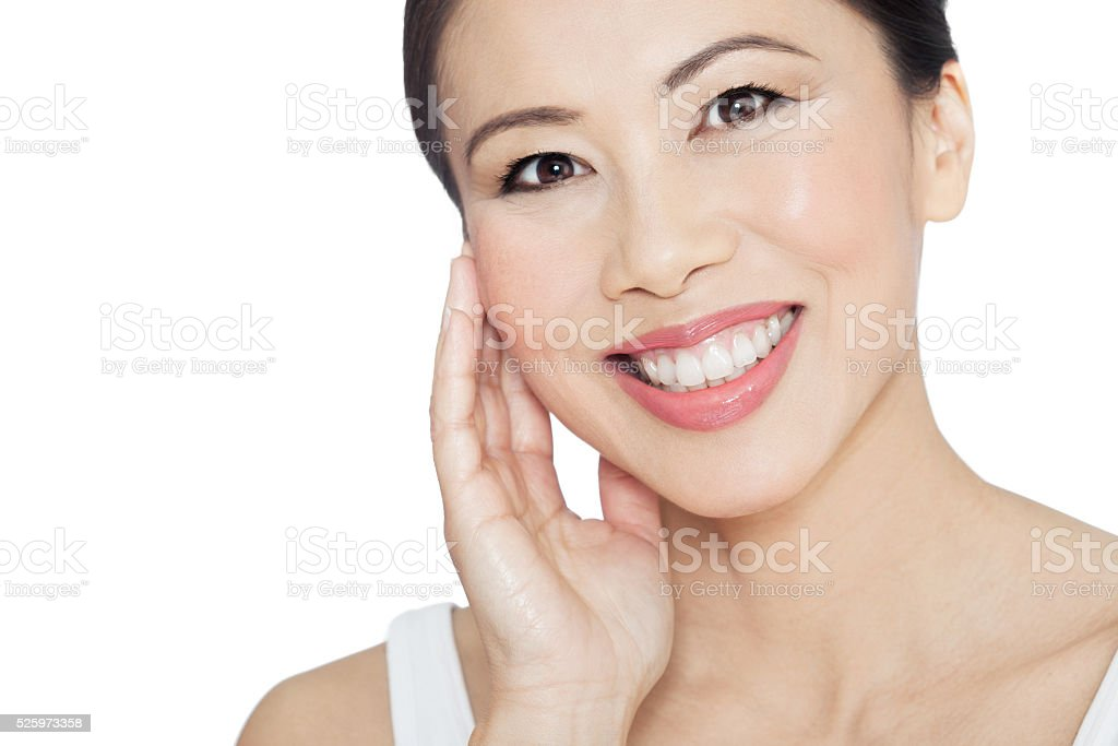 Beautiful Natural Asian Woman stock photo