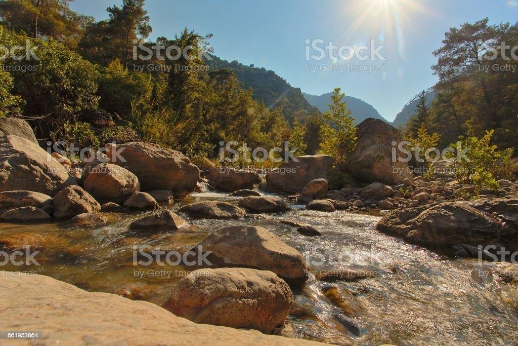 beautiful natural landscape attractions Antalya stock photo