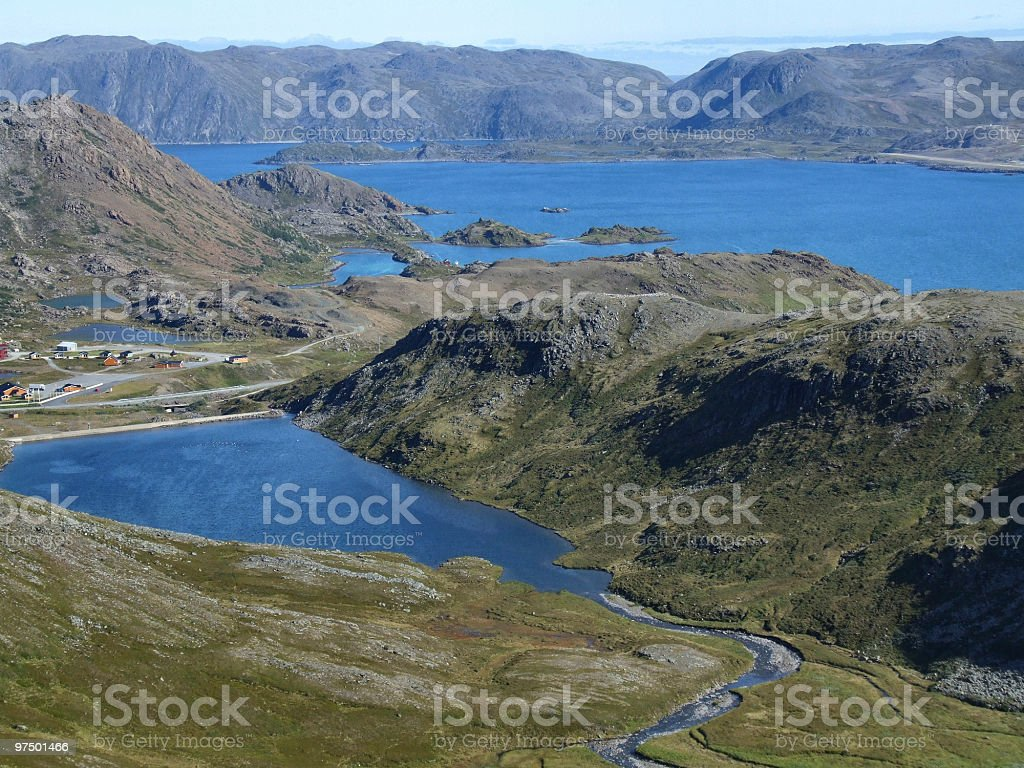 Beautiful natural landscape in Norway royalty-free stock photo