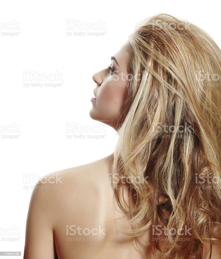 beautiful natural make-up woman stock photo