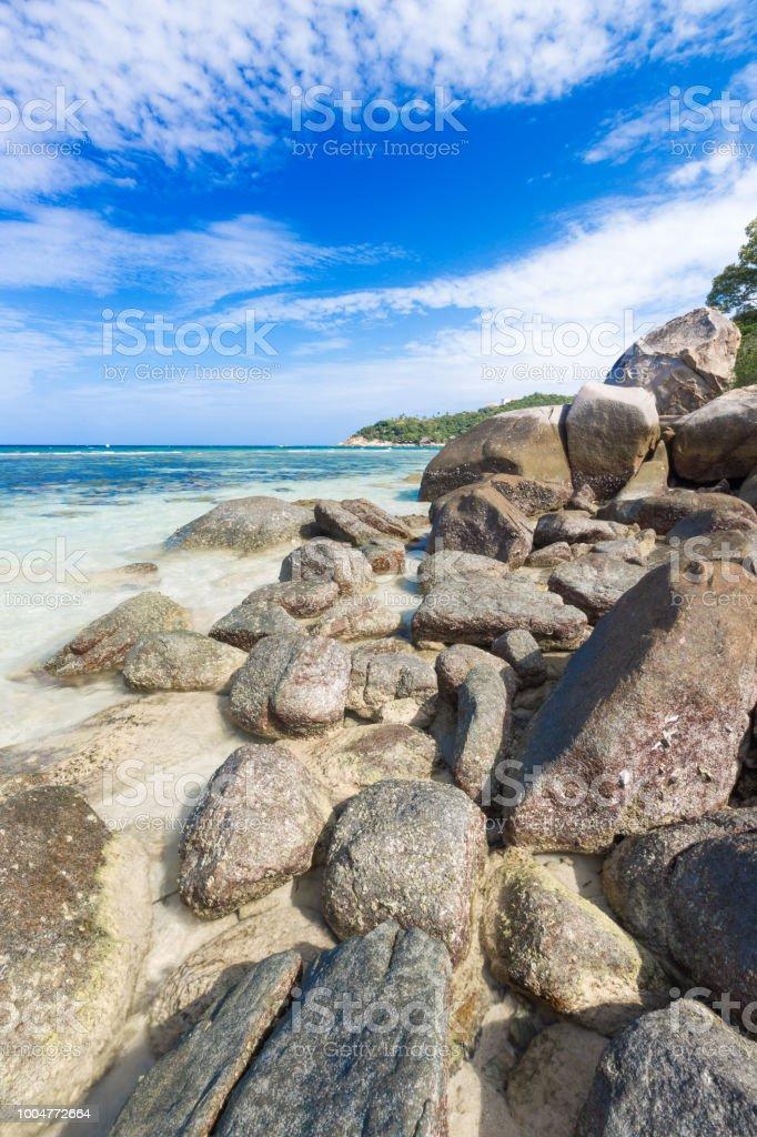 Schone Naturstein Stein Am Tropischen Strand Von Freedom Beach Koh