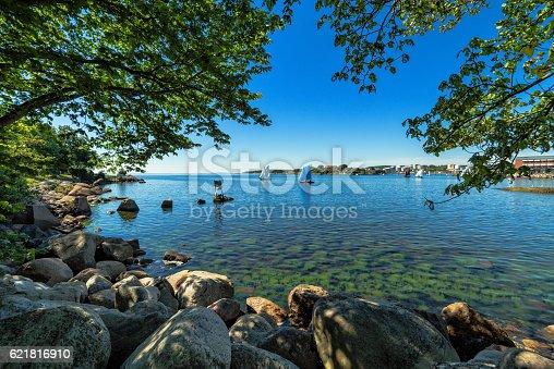 Beautiful summer sea coast scenery in Scandinavia