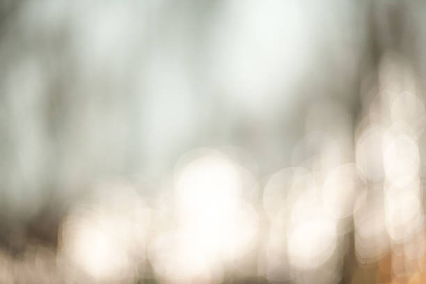 Beautiful Nature blurred light abstract background - Natural outdoors bokeh background with soft effect stock photo