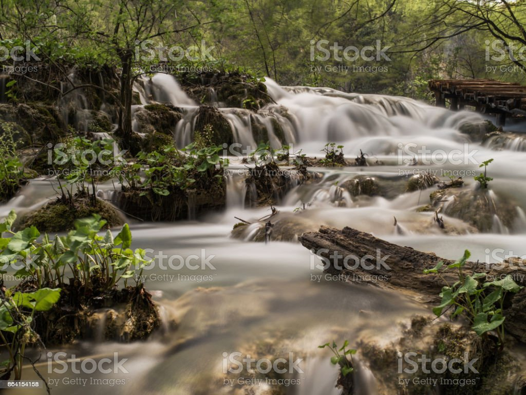 beautiful nature in Croatia Plitvice national park royalty-free stock photo