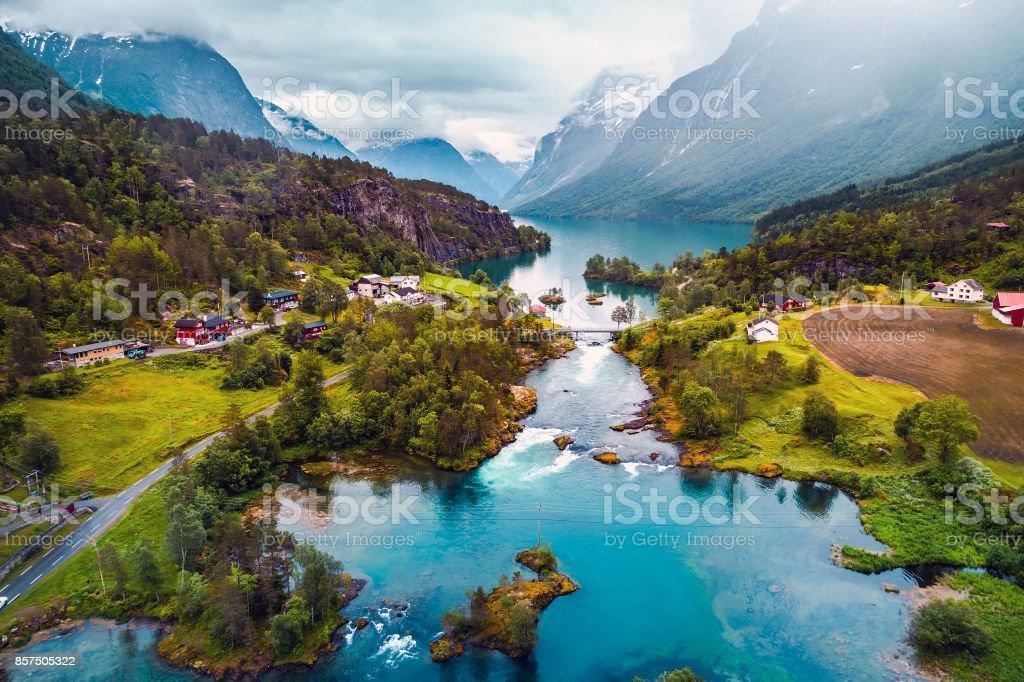 Schöne Natur Norwegen Luftaufnahmen. – Foto