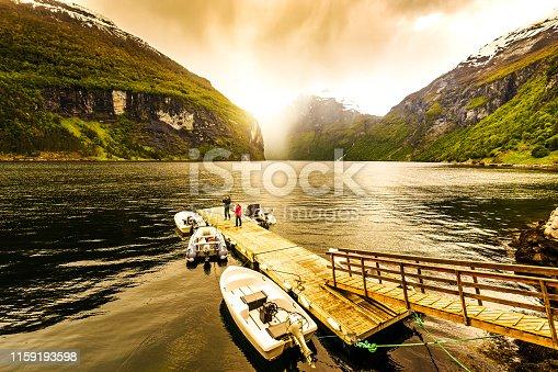Europe, Fjord, Geiranger, Geirangerfjord, Norway