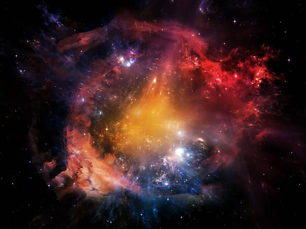 bellissimo nebulosa - big bang foto e immagini stock