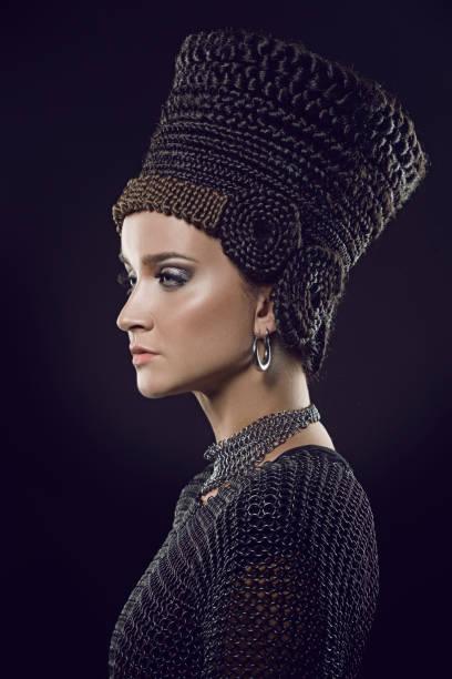 Beautiful Nefertiti Woman stock photo